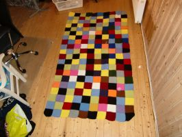 Knitting a blanket (finished) by MonsterWhacker