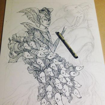 Knight of Cups for 78 Tarot Astral - wip by RachelQuinlan