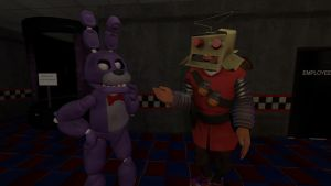 Soldier came prepared to work at Fazbear's by AwesomeCasey795