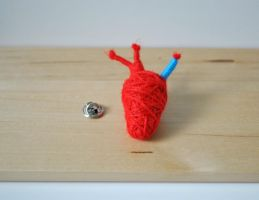 Anatomical Heart Brooch Pin by windowfog