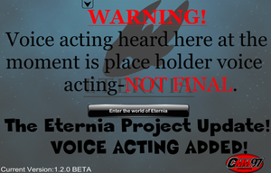 The ETERNIA PROJECT Update 1.2.0|VOICE ACTING AND+ by cmm97productions