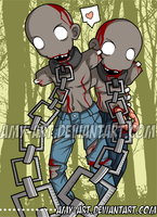 Michonne's Zombie Pets - The Walking Dead by amy-art