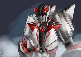 Commission: Bluestreak TFP style~ by Remedystune