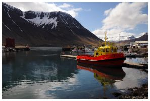 Isafjordur Harbour by escape-is-at-hand