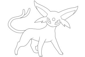 Espeon. :Lineart: by moxie2D