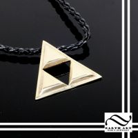 Brass Triforce Pendant by mooredesign13