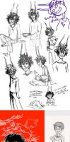 Homestuck Sketchdump 4 by Amandazon