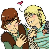Hiccup+Astrid: Love Tap by yamilink