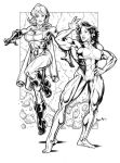 She Hulk and Power Girl by Bambs79