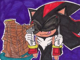 Shadow eating waffles by rumiko18