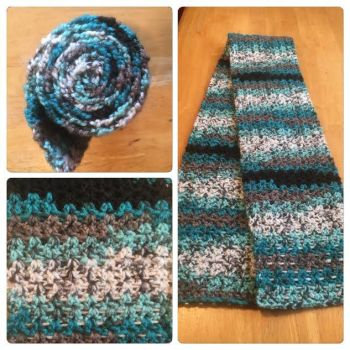 Blue-Black-Gray-White Scarf by A-Passionate-Flame