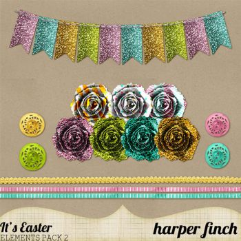 It's Easter Banner and Rosettes by harperfinch