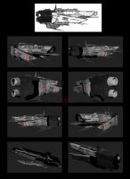 Contention: UNMC Masada-class frigate textured WIP by Malcontent1692
