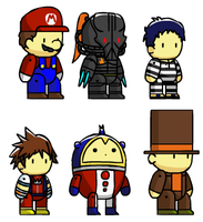 Assorted Scribblenaut Chars 3 by McGenio