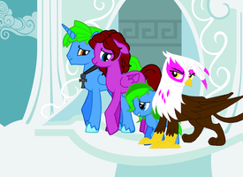 Sparky's family (Sparky x Dusk) by thequeenalien