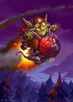 Goblin Rocket Rider - Goblins vs. Gnomes by Vablo