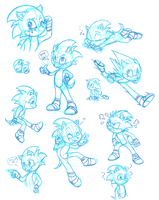 Lots of Sonics by C-Puff