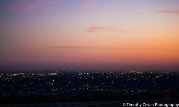 Melbourne before night by zevensoft