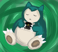 Kenny the Snorlax by About12Kittens