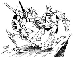 Cyclonus vs. Whirl by n-e-w-r-o-n