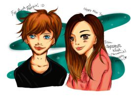 Pewdiepie and Marzia Fanart by mamaungcorn