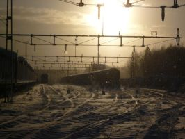 Winter At The Trainyard by mjrn70