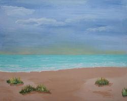 Solitude at the Beach Large by muradabel