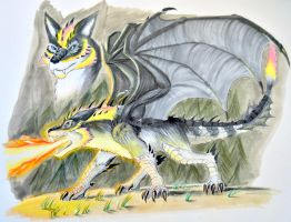 Dragonwolf by Drakesaurian