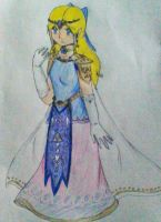 Forget-Me-Not Zelda Regalia(redo) by DreamPuppeteer