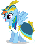 Rainbow Dash in Coronation Dress by CaNoN-lb