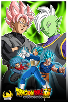 Saga of Black and Zamasu - Poster by SaoDVD
