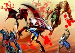 Bloody Roar Girls by SnowyPrincessOfTime
