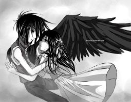 DN Angel- Here with Me:BW by angeLEE