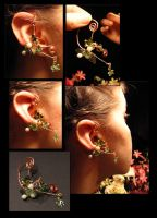 Ivy Tendril Ear Clasp by GoldenPear