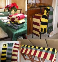 Harry Potter Scarves by EmpressFunk