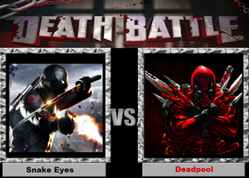 Dead Battle-(Fan)-Snake Eyes vs. Deadpool by XPvtCabooseX