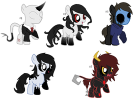 My Little Creppypasta Adoptables- Part 1 (CLOSED) by Psycho-CandyAddicted
