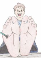 Barefoot Brush Tickle 2 by PrettyBareFootBoy