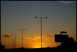 Motorway Sunset by Hitomii