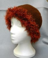 Cute and neat womens brown and russet crochet hat by YANKA-arts-n-crafts