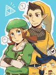 LoZ: Pipit and Karane by seiryuuden
