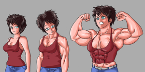 Random muscle growth 2 by NeroScottKennedy