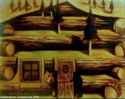 Cabin Fever Wilderness Painting by TOMMERVIK