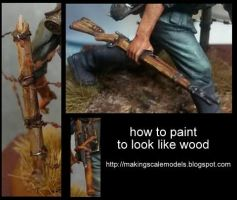 How to paint to look like wood by Makingscalemodels
