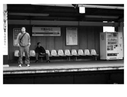 Waiting for the Train by deadward1555