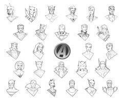 A is for Avengers by piotrov