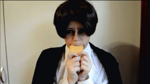 Levi The Cookie Muncher - GIF by Pudique
