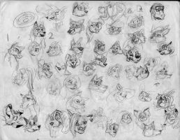 100 heads and poses P28 by Redfoxbennaton