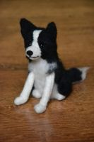 Needle felted Border collie Abby by Pawkeye