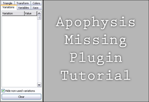Apo-Missing Plugins Tutorial by Juggalo5